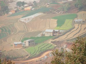 Paysage route de Katmandu